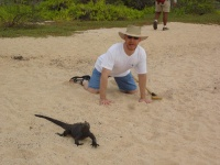 Phil and an Iguana