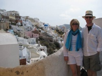 Phil and Marcella on Santorini